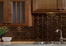 Decorative Facade Traditional Bermuda Bronze Lay-in on Kitchen Island