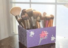 Recreate Your Old Makeup Brush Container With Decoupage!