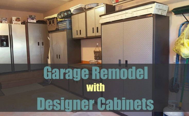 Garage Remodel with Designer Cabinets - Sassy Townhouse Living