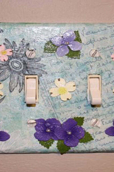 Light Switch Decoupage