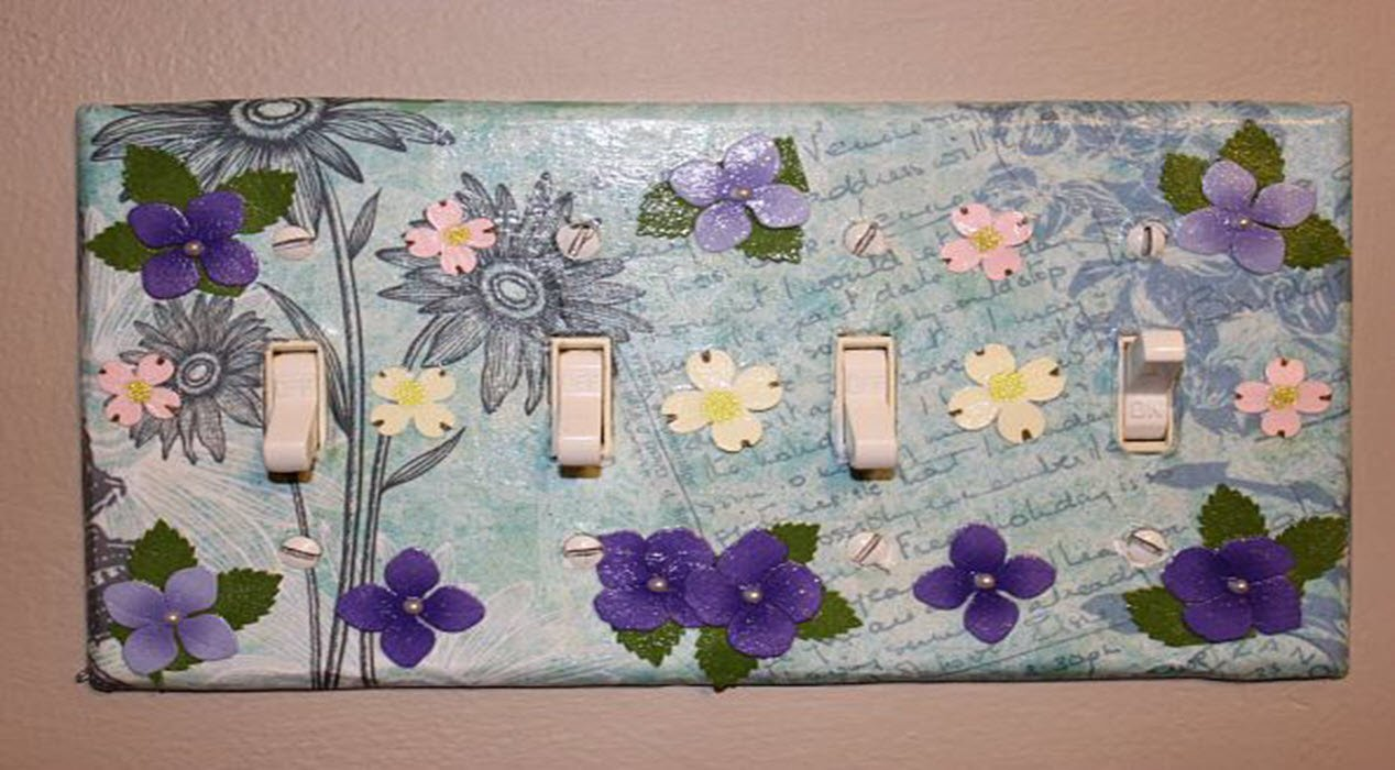 Easily Transform Your Light Switches With Decoupage