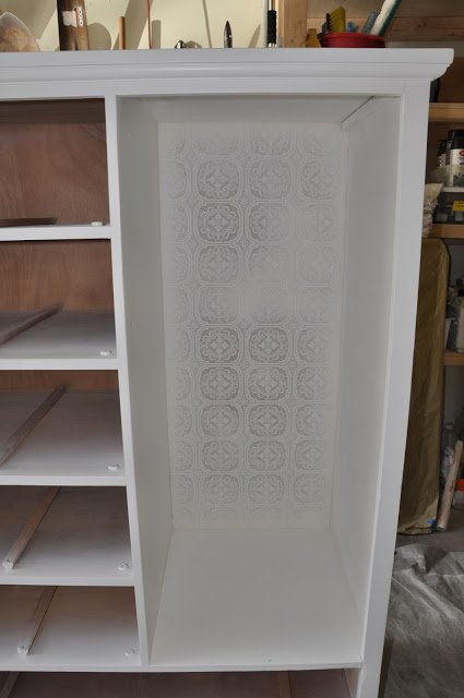 textured wallpaper dresser