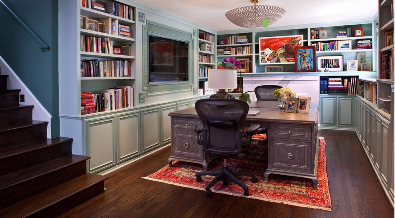 TIRED OF YOUR HOME OFFICE BUILT-IN CABINETS JUST MIGHT WORK FOR YOU!