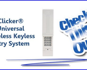Clicker Universal Wireless Key less Entry Garage Door System - Easy Access Made Simple!