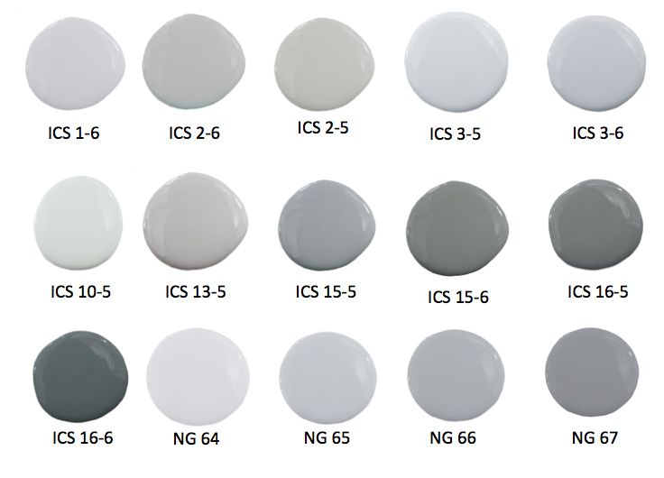 Delightful Paint Colors Of Gray Part - 13: And These Old Linen Colors Are Off The Hook!