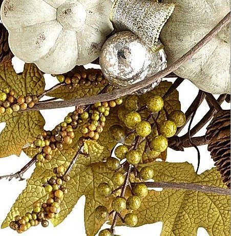 closeup vine wreath