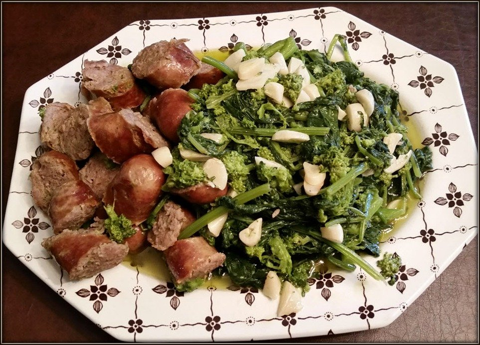 Broccoli Rabe and Sausage Completed