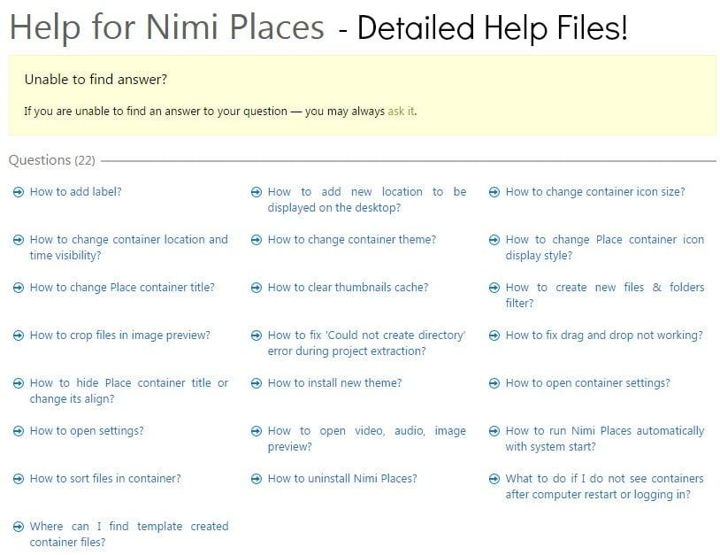 Nimi Places Help