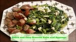 Quick and Easy Broccoli Rabe With Sausage