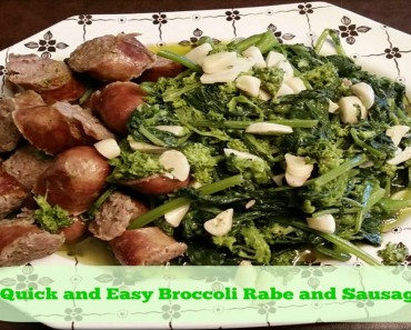 Quick and Easy Broccoli Rabe and Sausage