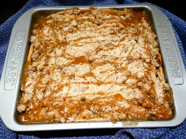 Salted Caramel Apple Crisp Recipe – With A Yummy Strudel Topping!