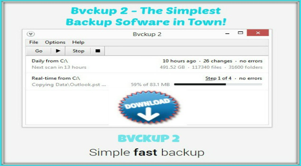 Bvckup 2 – The Simple and Fast Way To Backup Your PC