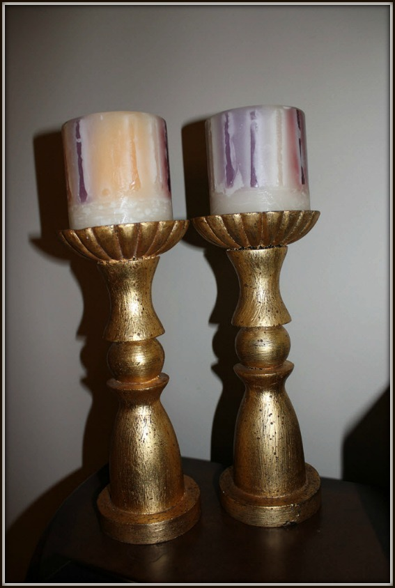 Gold Candle Pair