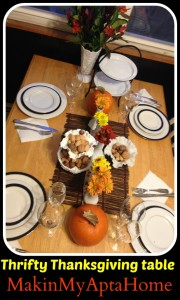 Makin My Apt A Home Thanksgiving Tablescape