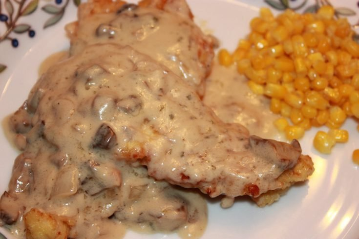 Chicken Cutlets with Mushroom and Onion Cream Sauce Recipe
