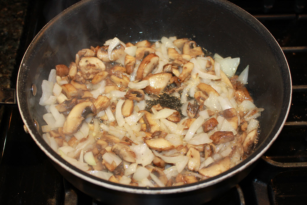 Frying Mushroms and Onions