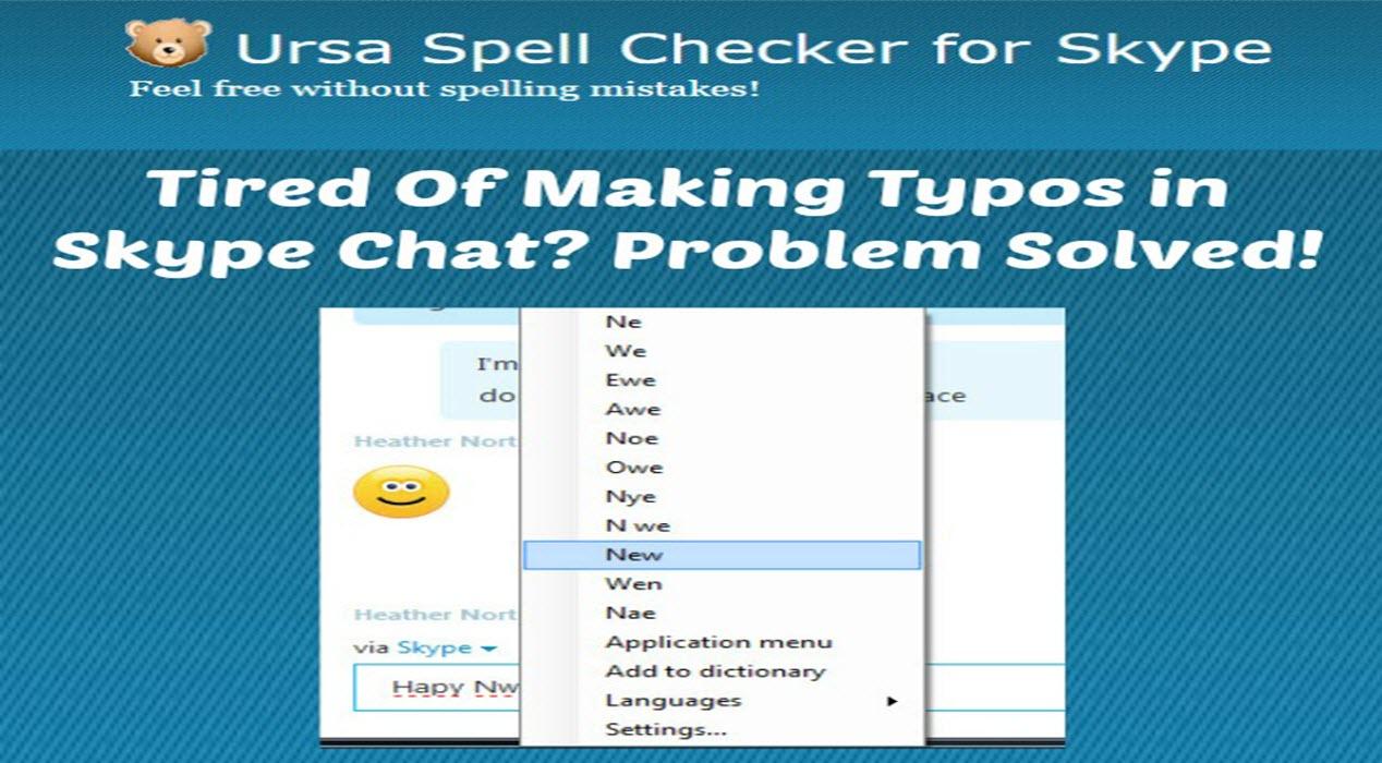 URSA Spell Checker for Skype - Sassy Townhouse Living