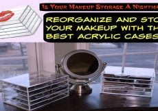 Reorganize and Store Your Makeup With The Best Acrylic Cases - Sassy Townhouse Living