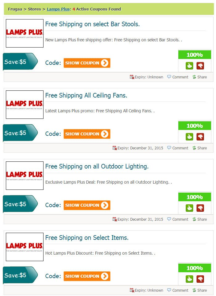Lampsplus coupon code