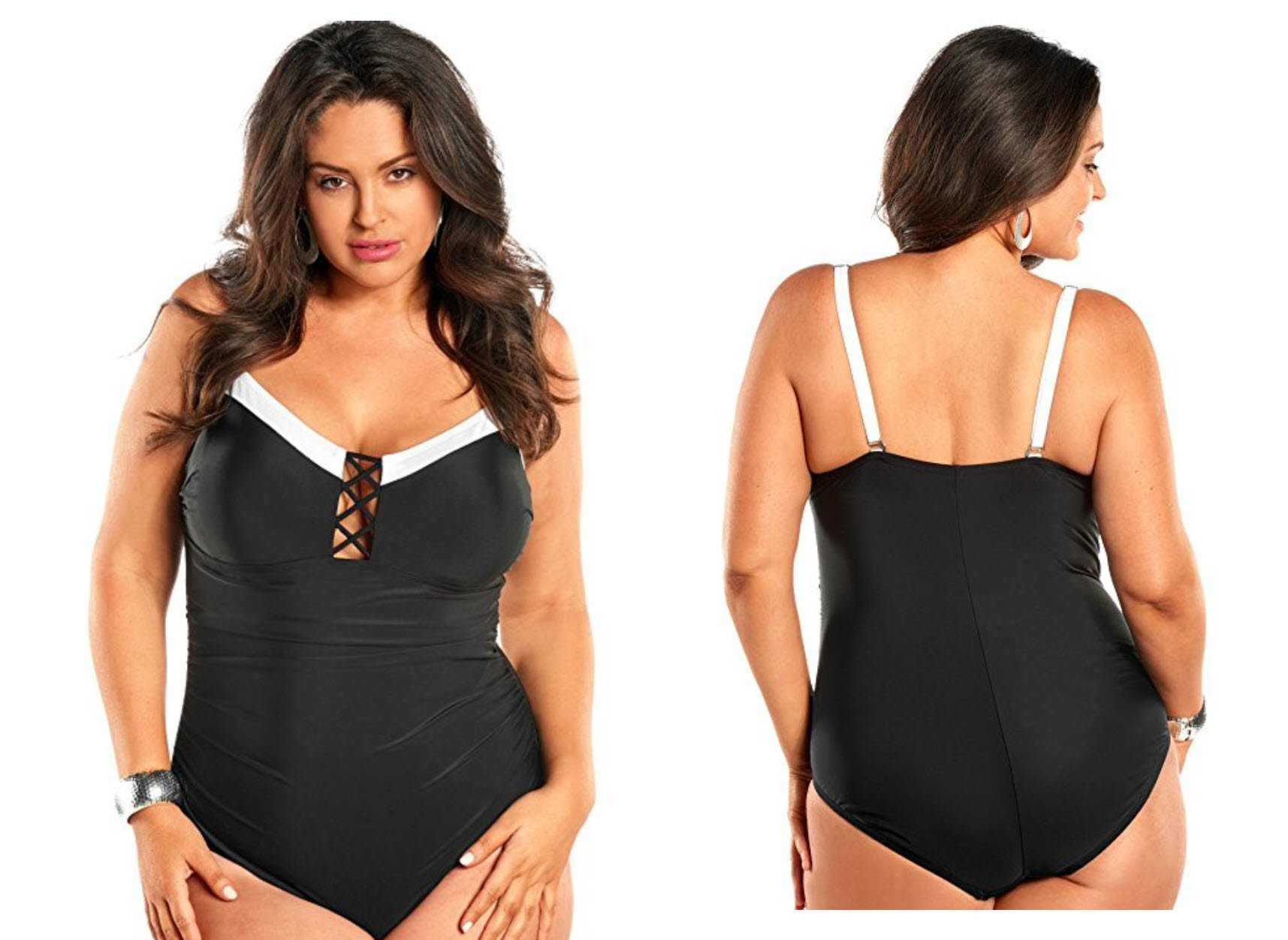 Always For Me Women's Plus Size Mykonos One Piece Swimsuit