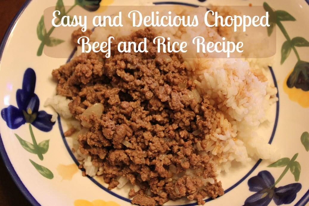 Easy And Delicious Chopped Beef and Rice Recipe - Sassy Townhouse Living