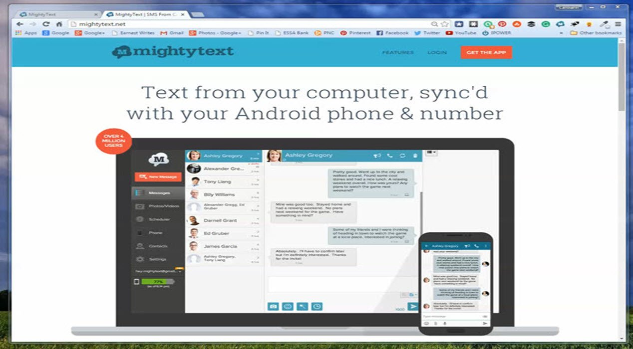 Text From Your Computer With Mightytext for Android