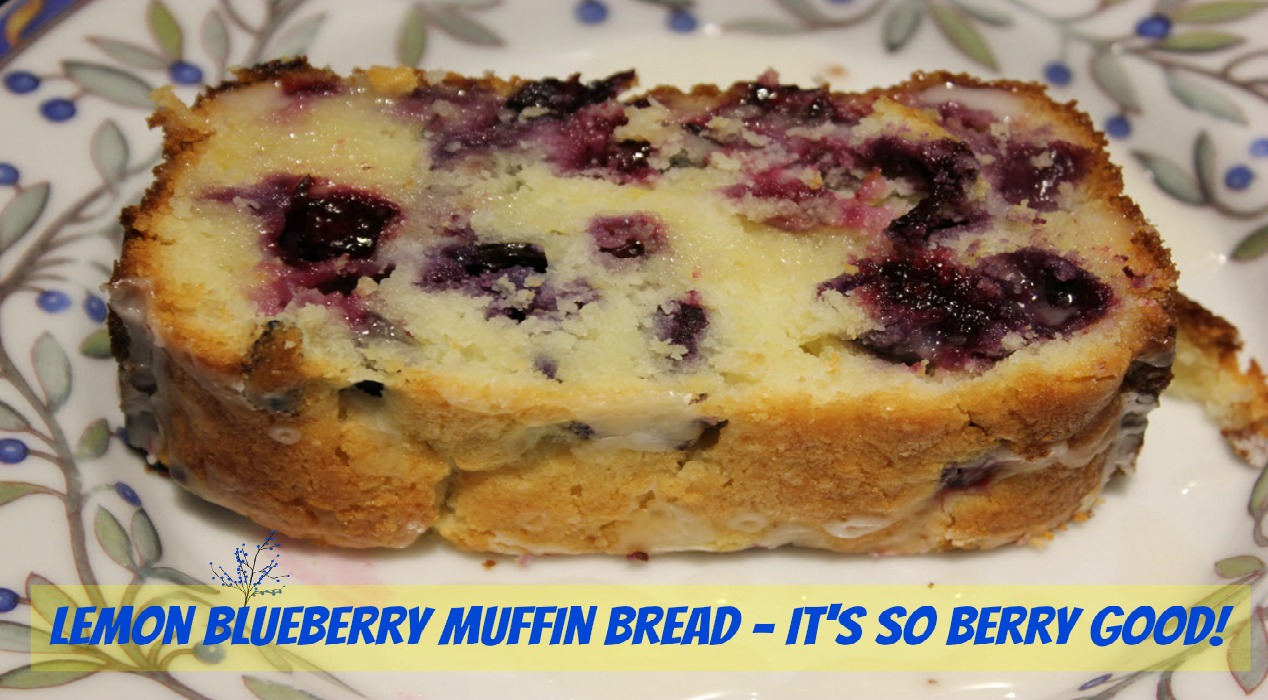 Lemon Blueberry Muffin Bread Recipe- It's So Berry Good!