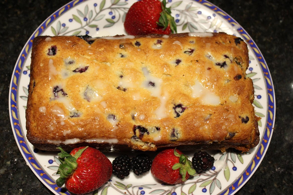 Lemon Blueberry Muffin Bread Recipe