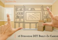 16 Stunning DIY Built In Cabinets - Sassy Townhouse Living