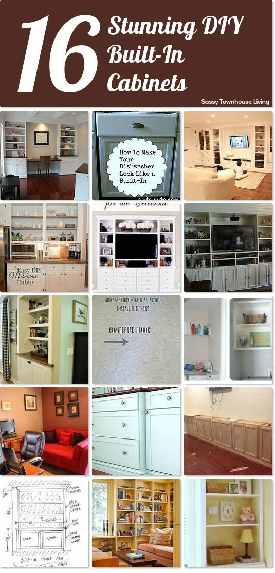 16 Stunning DIY Built-In Cabinets -