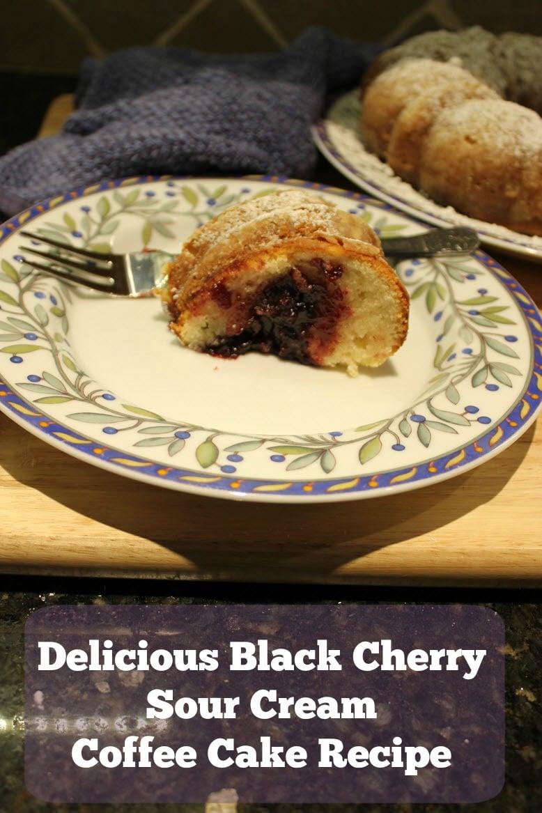 Delicious Black Cherry Sour Cream Coffee Cake Recipe