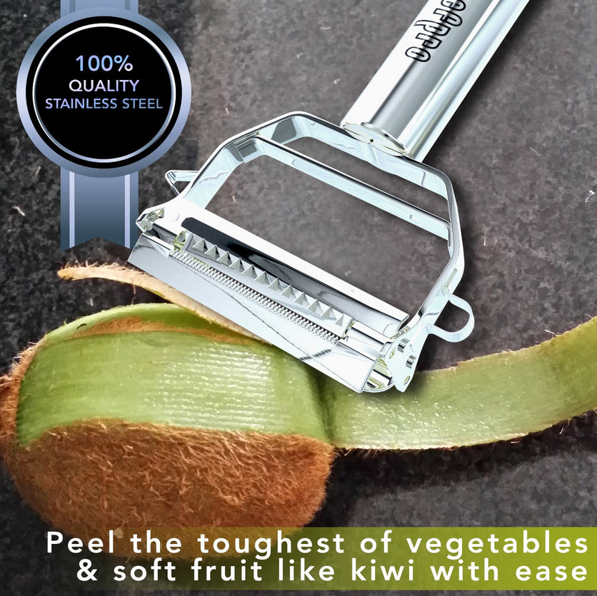 Firstchefpro Ultra Sharp Dual Julienne Peeler & Vegetable Peeler