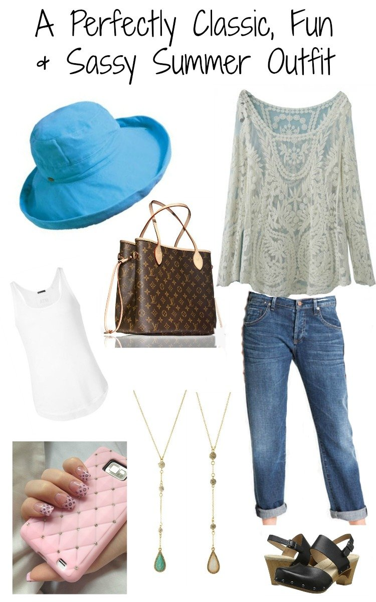 A Perfectly Classic, Fun & Sassy Summer Outfit