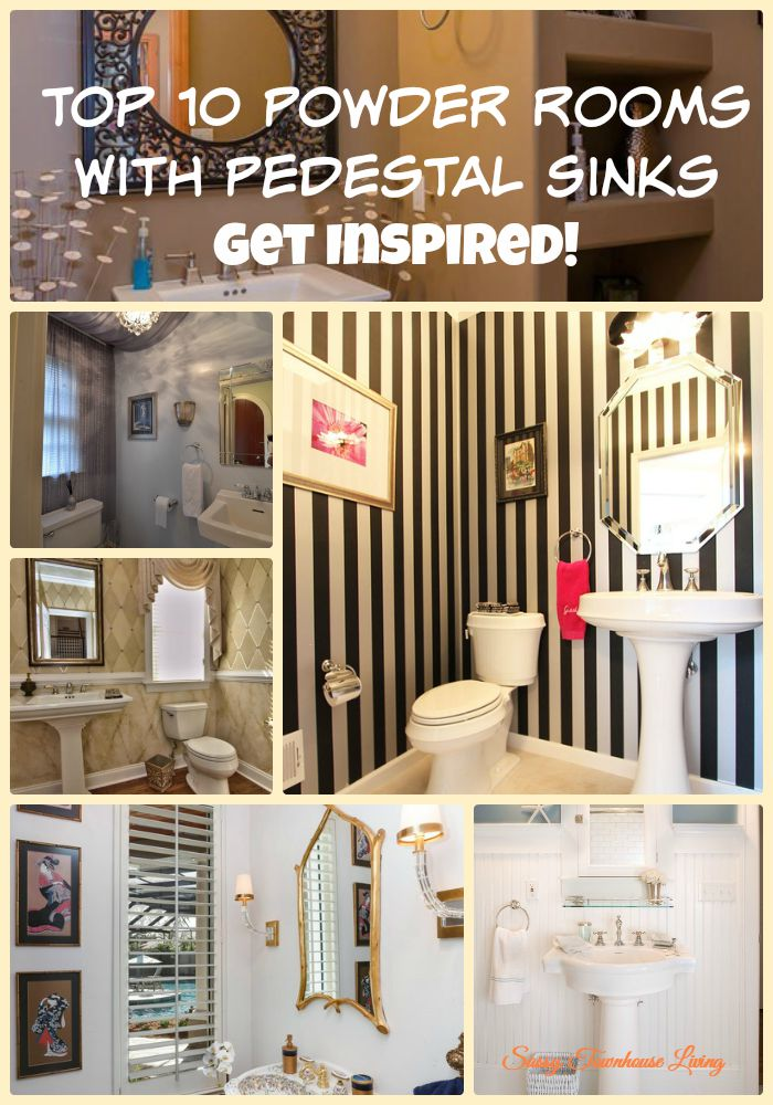 Top 10 Powder Rooms With Pedestal Sinks - Get Inspired! - Sassy Townhouse Living