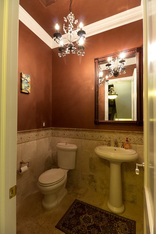 traditional powder room - Powder Room Pedestal Sink