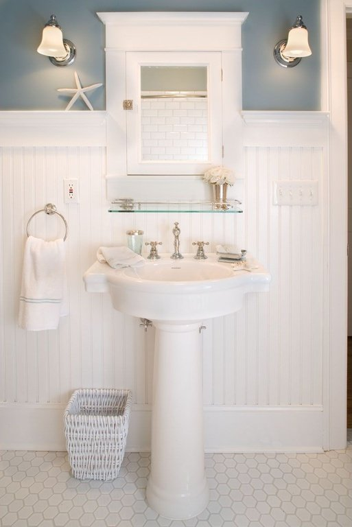 a touch of country - Powder Room Pedestal Sink