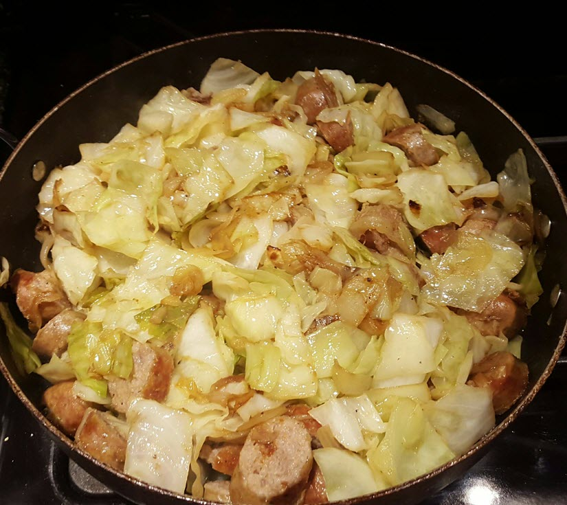 Sausage, Cabbage, & Onions Recipe With A Yum Factor of 10