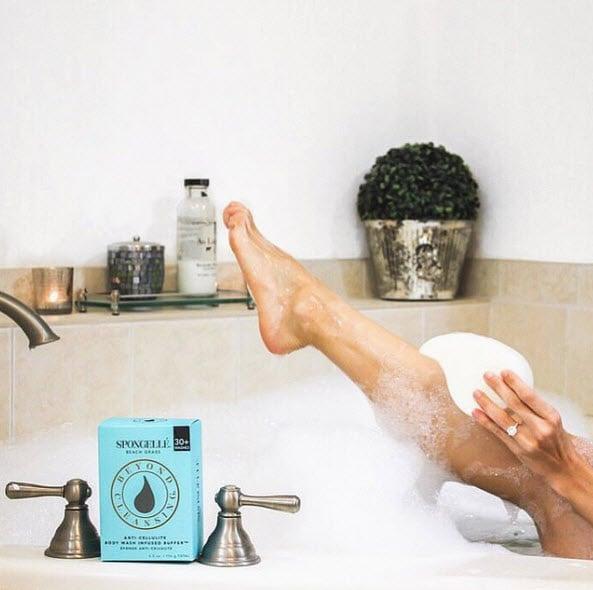 bathing with spongelle 2