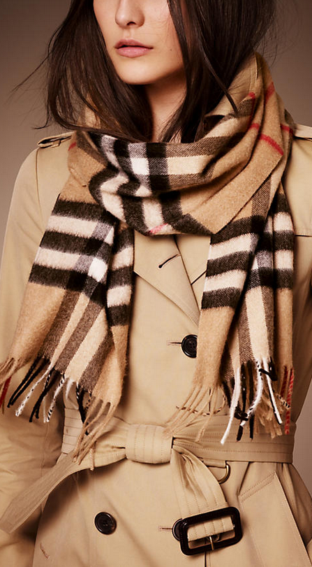 heritage check cashmere scarf2