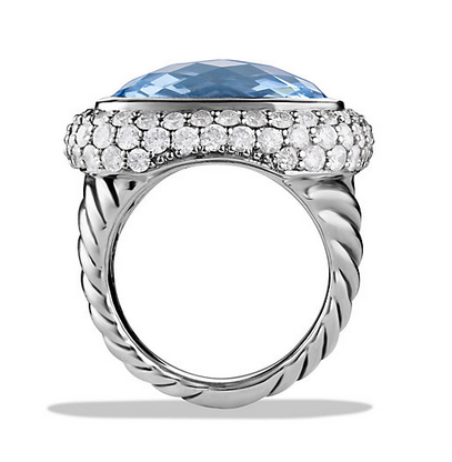waverly limited edition ring with blue topaz and diamonds david yurman