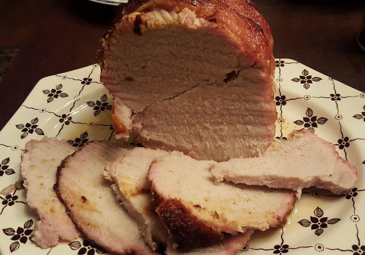 Apple Butter Glazed Pork Loin Roast With Gravy Recipe ...