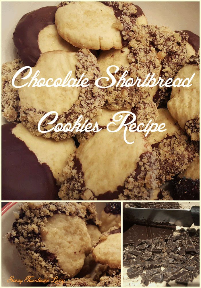 Chocolate Dipped Shortbread Cookies Pinterest - Sassy Townhouse Living
