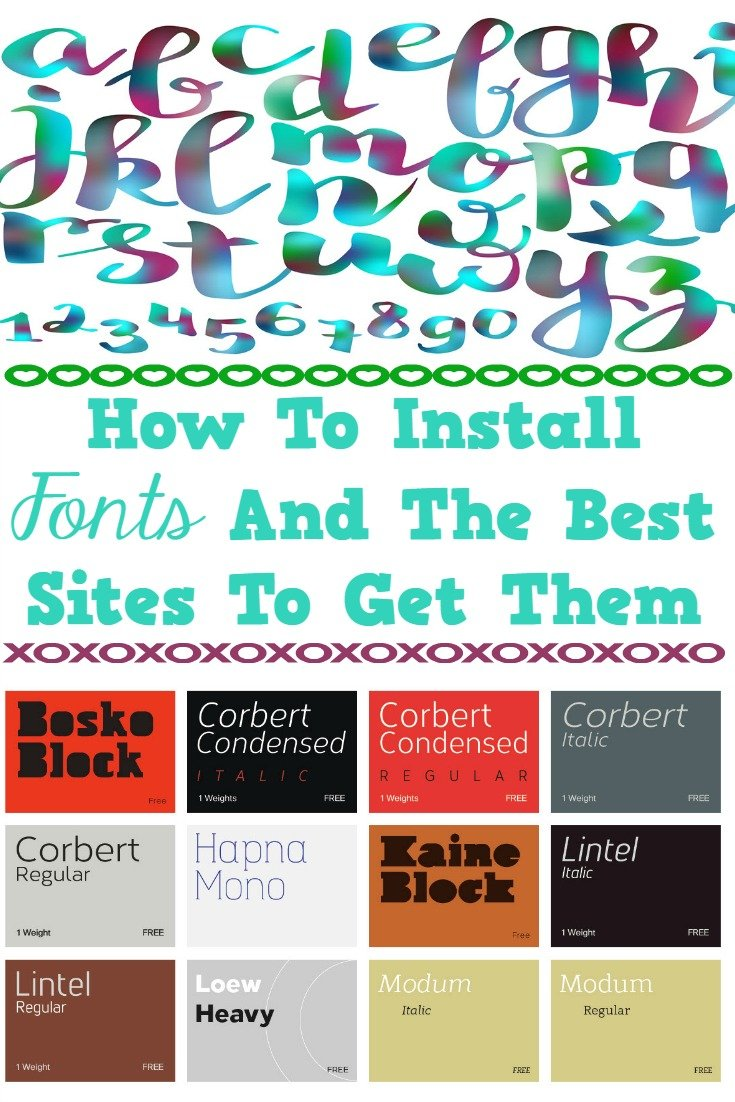 How To Install Fonts And The Best Sites To Get Them_Sassy Townhouse Living