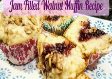 Jam Filled Walnut Muffin Recipe
