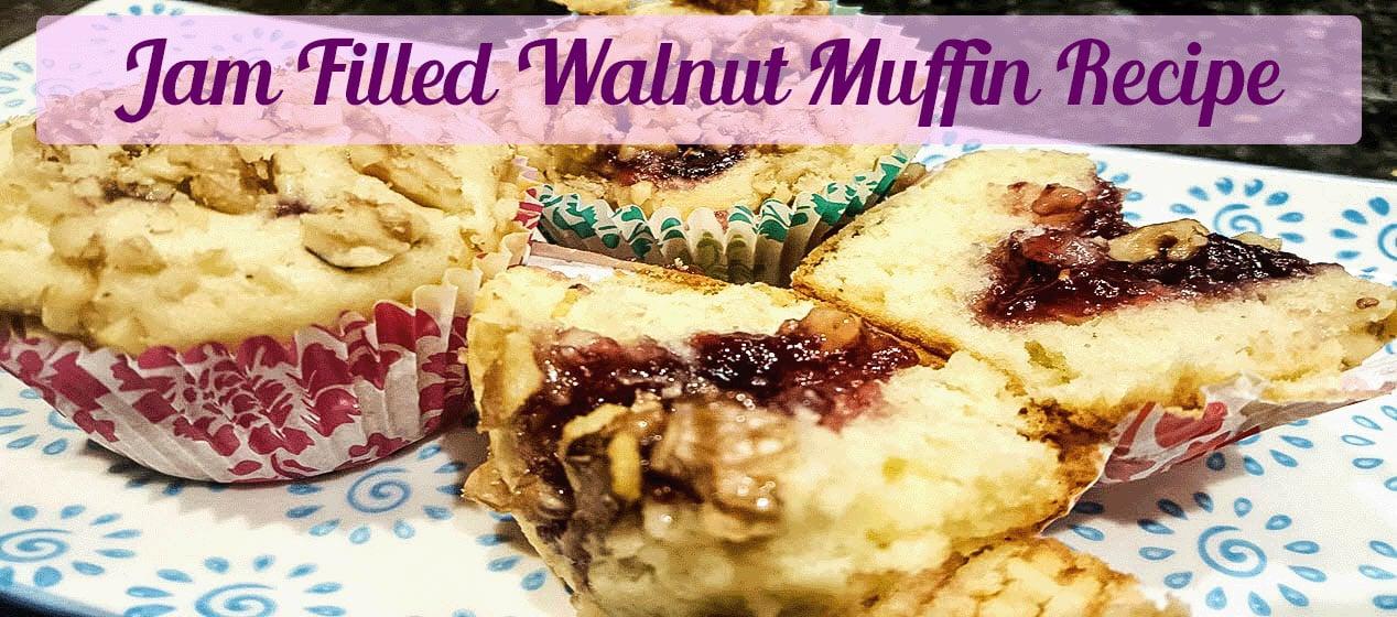 Jam Filled Walnut Muffin Recipe-Sassy Townhouse Living