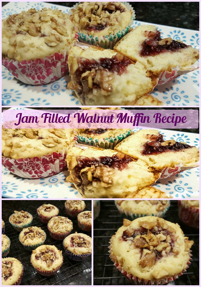 Jam Filled Walnut Muffin Recipe_Sassy Townhouse Living