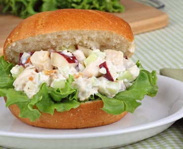 Almond, Apple, And Raisin Chicken Salad