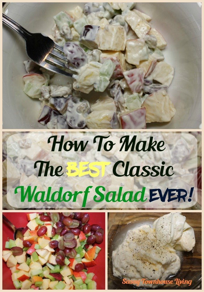 How To Make The Best Classic Waldorf Salad Ever! Sassy Townhouse Living