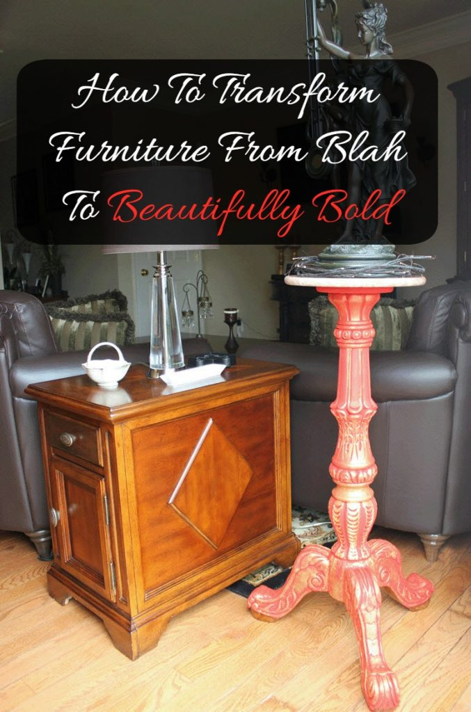 How To Transform Furniture From Blah To Beautifully Bold-Sassy Townhouse Living