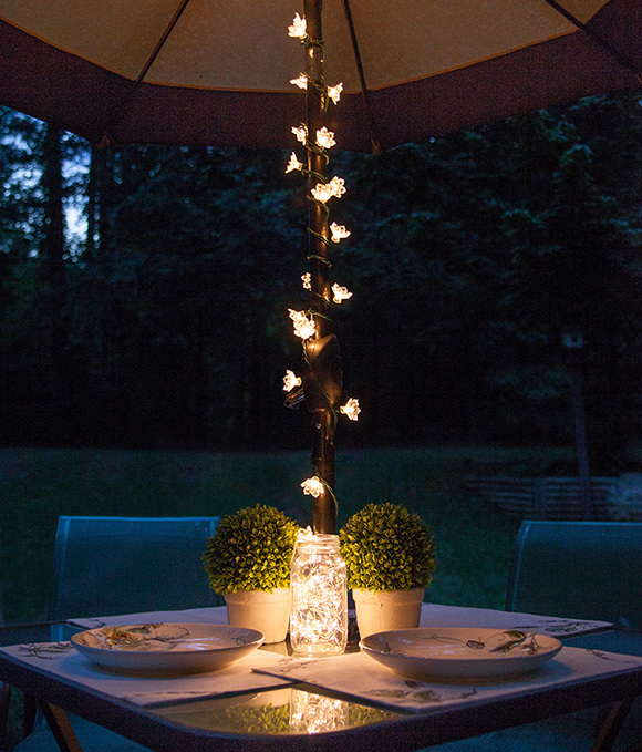 Outdoor Vertical String Lights : Making The Most Of A Small Backyard
